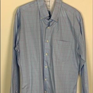 Peter Millar Size Med Long Sleeve Collared Shirt